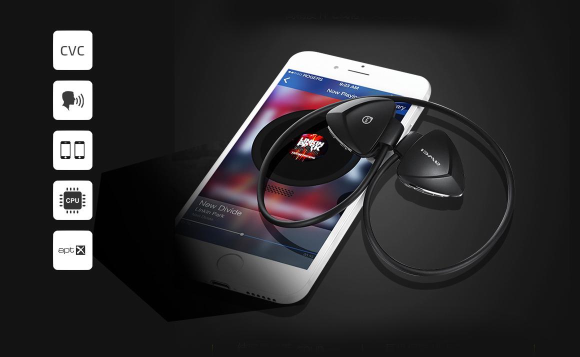 Bezdrôtová Bluetooth slúchadlá pre šport Awei A840bl