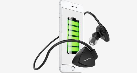 Bluetooth špunty na šport za uši s veľkou batériou Awei A840BL