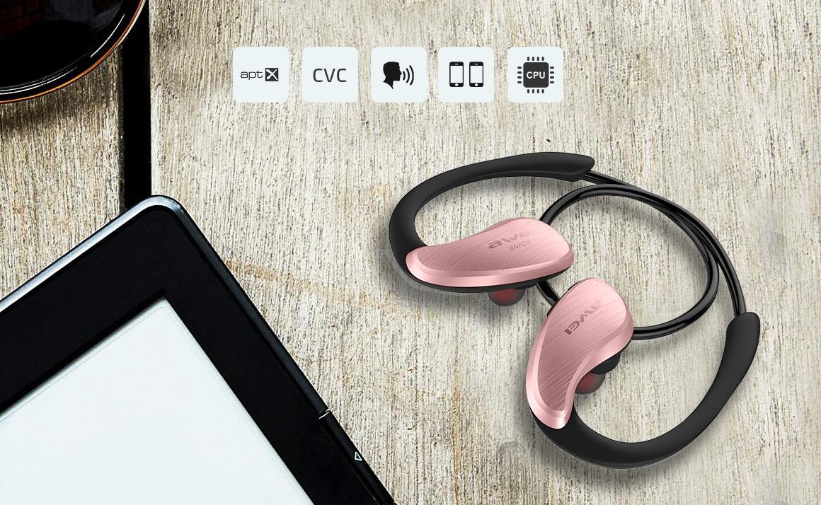 Awei a880bl čarovná ružová slúchadlá za uši
