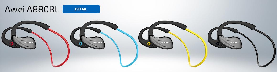 Ostatné tiež kúpili športové slúchadlá Awei A880BL v rôznych farbách