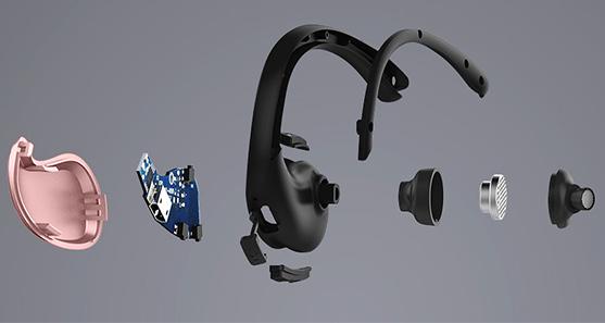 Ružová Bluetooth slúchadlá za uši Awei A885BL