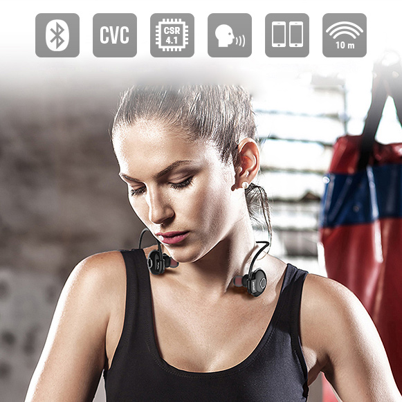 Bluetooth 4.1 slúchadlá do uší s multipoint a skvelým dosahom.