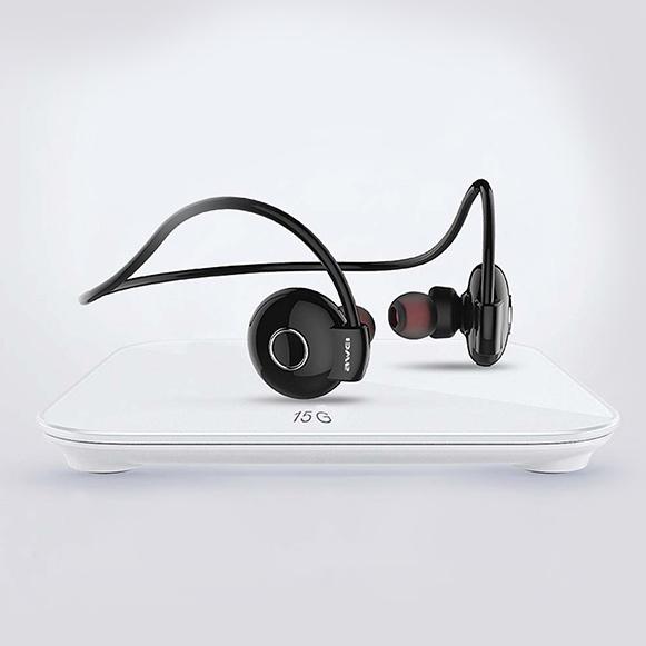 Ľahké slúchadlá na behanie a šport Awei A845BL, ktorá váži len 15g.