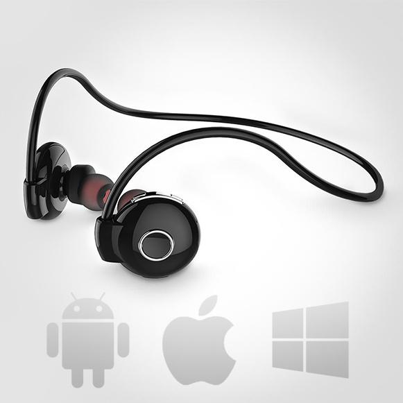 Bezdrôtová Bluetooth slúchadlá kompatibilné s iPhonom iOS.