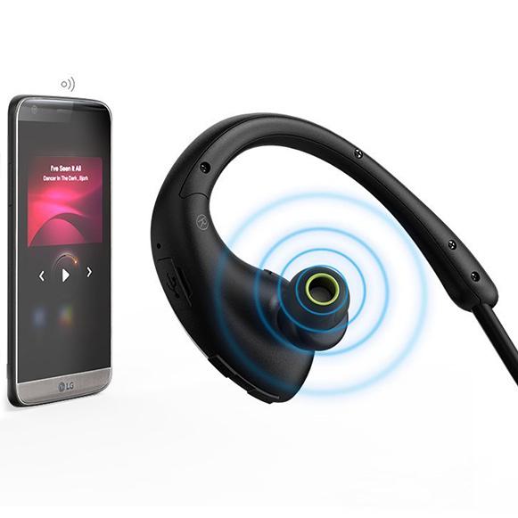 Bezdrôtové slúchadlá s mikrofónom, handsfree ovládanie hlasitosti a preskakovanie pesničiek bezdrôtové kôstky Awei A881BL.