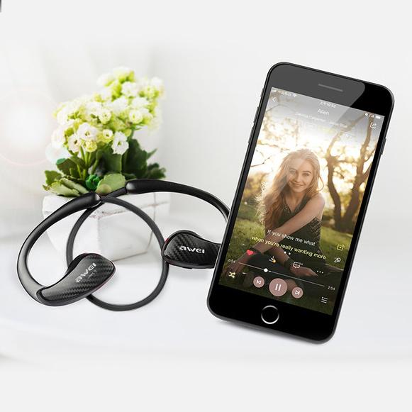 Bezdrôtová Bluetooth slúchadlá sa super dlhou výdržou batérie Awei A881BL.
