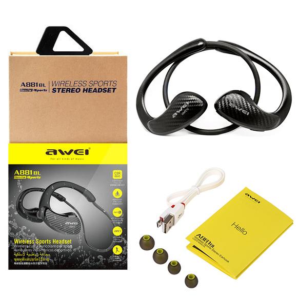 Bezdrôtové Bluetooth slúchadlá do uší s bohatým príslušenstvom v darčekovej krabičke.