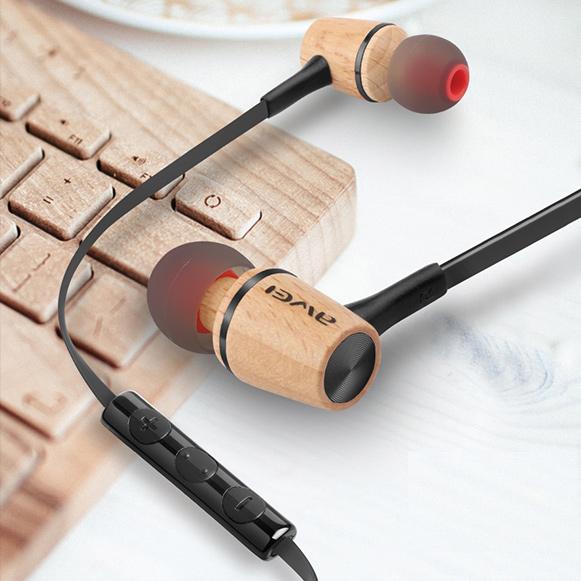 Slúchadlá do uší s ovládačom hlasitosti, preskakovaním pesničiek a mikrofónom Awei ES 80TY.