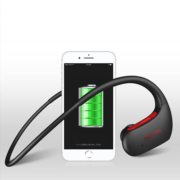 Bezdrôtové Bluetooth pecky do uší za uši s dlhou výdržou batérie.