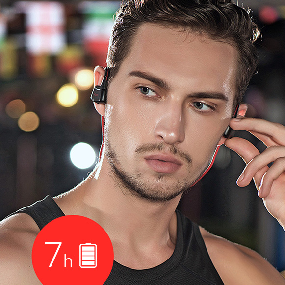 Bezdrôtové slúchadlá s dlhou výdržou.  Dacom P10 MP3 do uší.