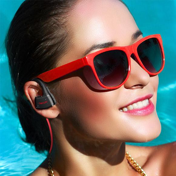 Športové bezdrôtová Bluetooth slúchadlá do uší s MP3 prehrávačom na šport.  Dacom P10 MP3.