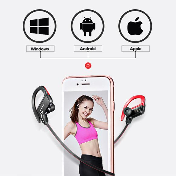 Bezdrôtová Bluetooth slúchadlá pre iPhone iPad iOS Android a ďalšie.
