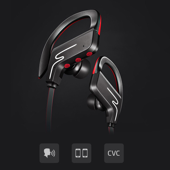 Bluetooth bezdrôtové slúchadlá s chytrými funkciami a mikrofónom.