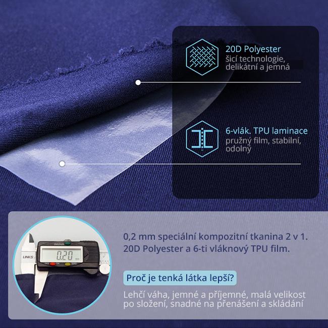 Vankúšik na cestovanie Aonijie E4078 je vyrobený zo špeciálnej tkaniny s dvoma vrstvy 20D PE a TPU.  Mimoriadne pohodlný a ľahko skladateľný, prenosný.