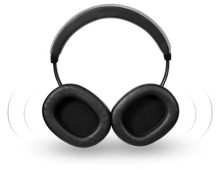 Slúchadlá na hlavu cez hlavu s veľkým reproduktorom bezdráová Bluetooth Bluedio T6.