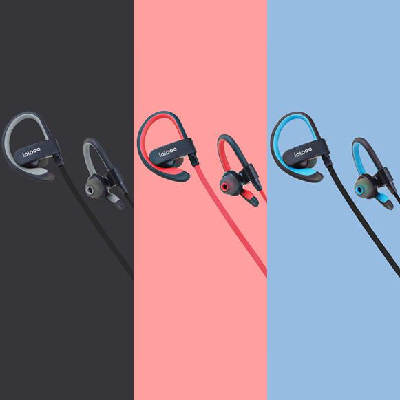 Bezdrôtové slúchadlá červená, čierna, modrá, šedá lacné Bluetooth kôstky za uši Ipipoo IL98BL.