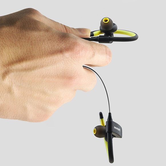 Ergonomická bezdrôtová Bluetooth 4.2 slúchadlá špunty do uší s háčikmi za ucho.  Ipipoo IL98BL.