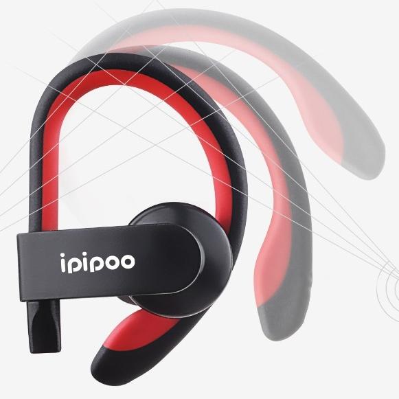 Športové bezdrôtová Bluetooth slúchadlá s hákom za uši Ipipoo IL98BL.
