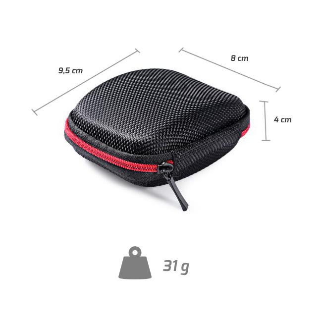 Ľahké kompaktné puzdro na slúchadlá do uší.  KZ B2