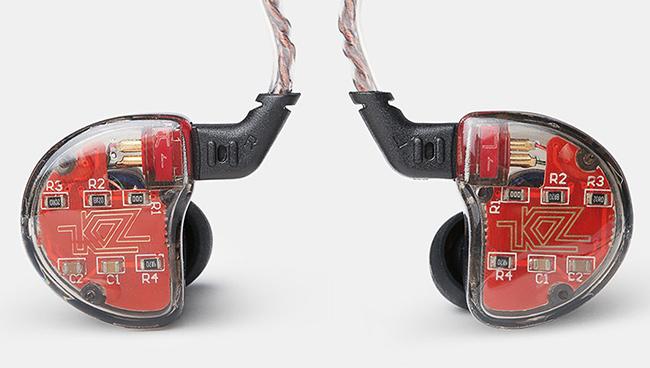 Priehľadná slúchadlá s výmenným káblom kz ZS10.