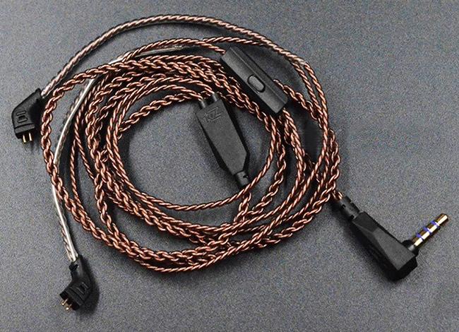 Slúchadlá s vymeniteľným káblom, kvalitný kábel KZ ZS10.