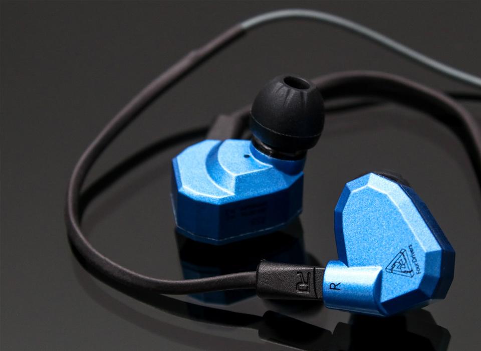 Modrá slúchadlá špunty pecky do uší KZ ZS5.