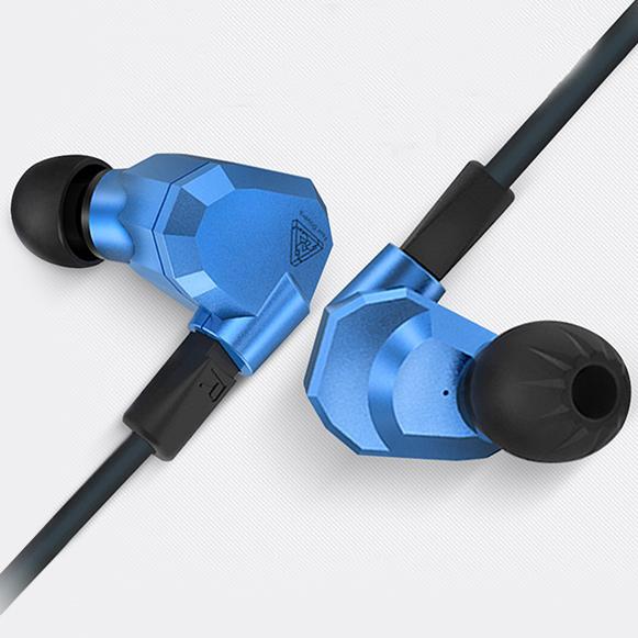 HiFi profesionálne kvalitné slúchadlá do uší s dokonalým zvukom.  KZ ZS5.