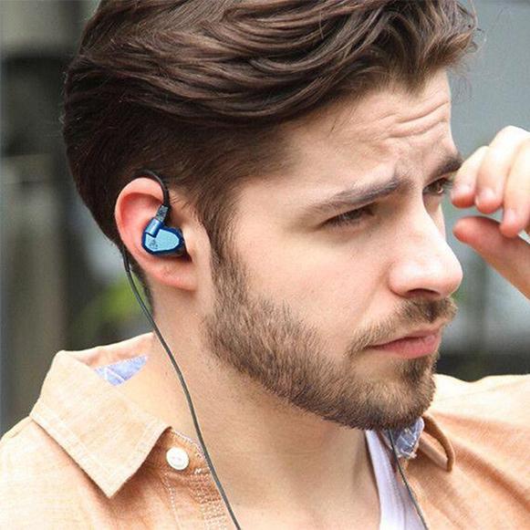 Hifi kvalitné HD slúchadlá s káblom za uši.  Vhodná na šport