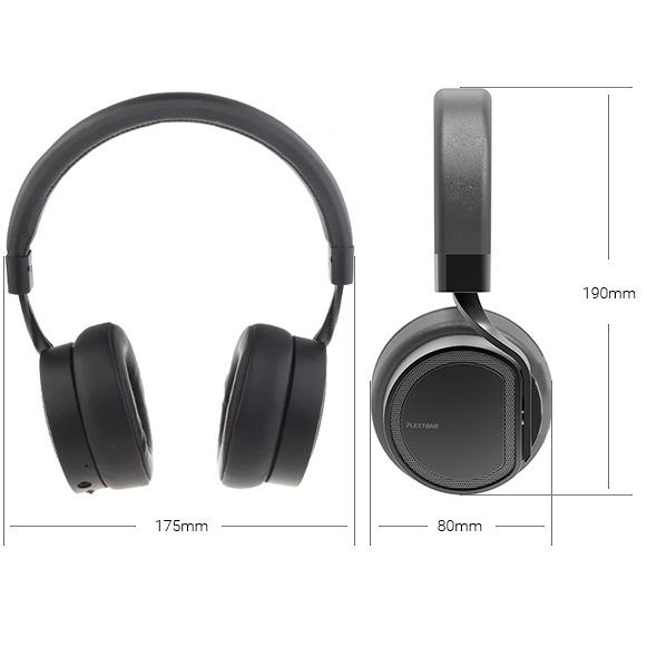 Rozmery veľkých slúchadiel cez hlavu cez uši bezdrôtové Bluetooth slúchadlá Plextone BT270.