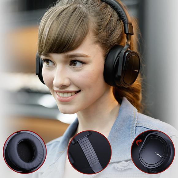 Slúchadlá cez hlavu Plextone BT270 sú pekná elegantná a pohodlná náhlavná bezdrôtové slúchadlá.