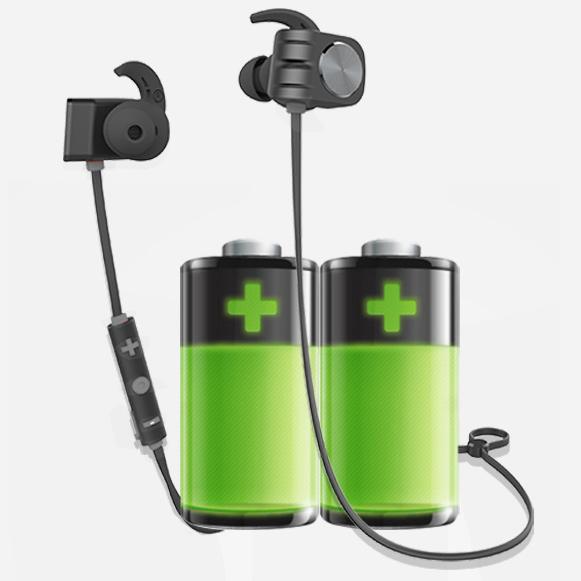 Bezdrôtová Bluetooth slúchadlá s dlhou výdržou vďaka veľkej batérii Plextone BX338.
