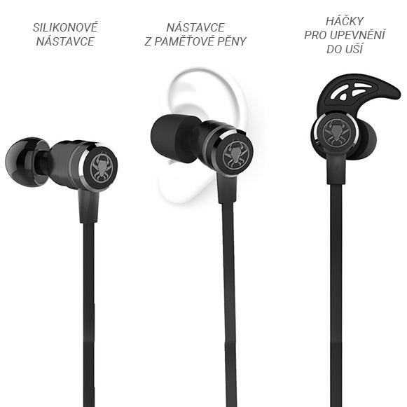 Pohodlné slúchadlá ergonomická do uší s hákmi do uší Plextone G20.
