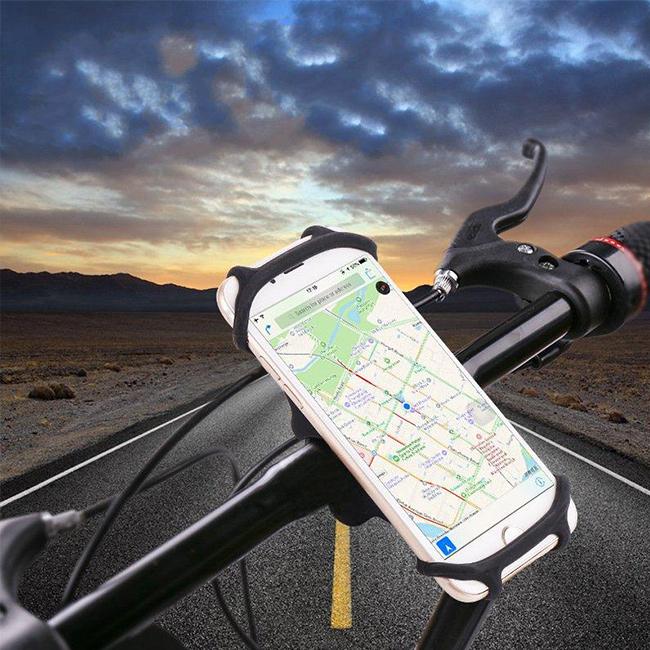Držiak na bicykel pre mobily, smartphony, iPhone s veľkosťou 4,5 až 5,5 palcov.