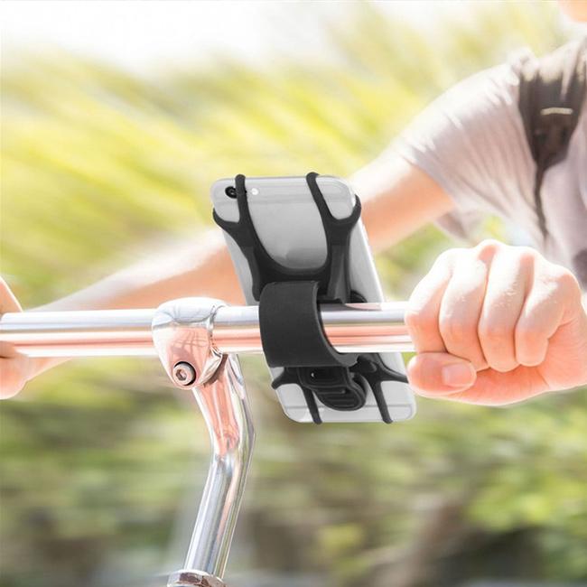 Univerzálny slilikonový držiak na mobil na bicykel, motorku, auto ...