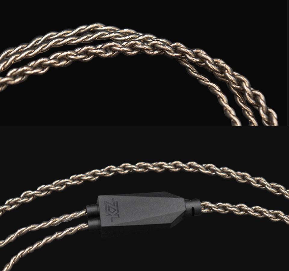 Kvalitný vylepšujúci náhradný kábel pre slúchadlá KZ ZST, ZSR, ED12, ES3 profesionálne prevedenie.