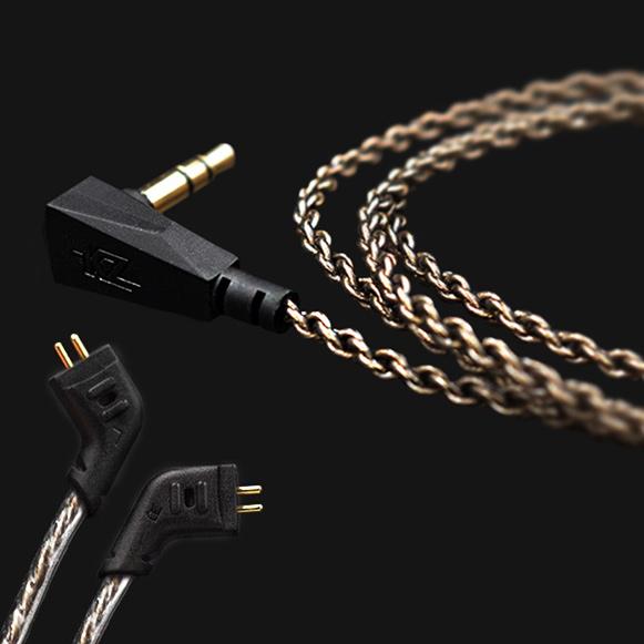 Náhradný vylepšujúci kábel pre slúchadlá KZ ZST je vybavený zahnutými 0,75mm Piny.