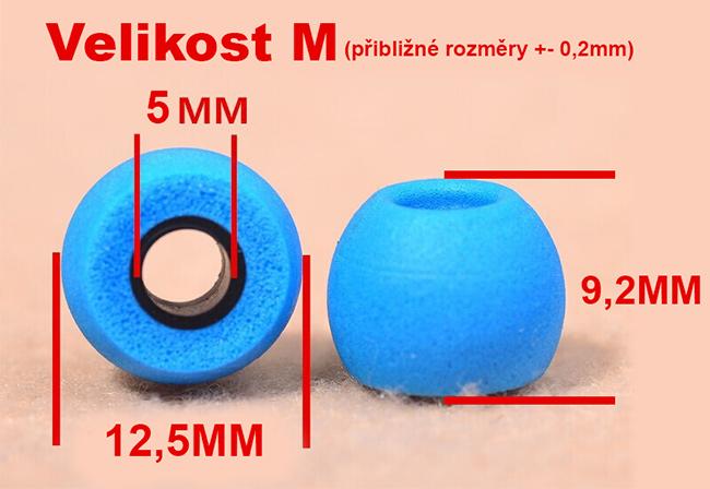 Nahradne špunt na slúchadlá z pamäťovej peny ideálne rozmery, ktoré pasujú presne do uší QKZ Comply Comfort TS400.