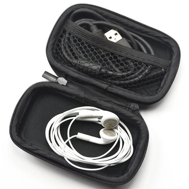 Puzdro na slúchadlá s gumovou priehradkou a sieťkou.  Case Star AL18-1204