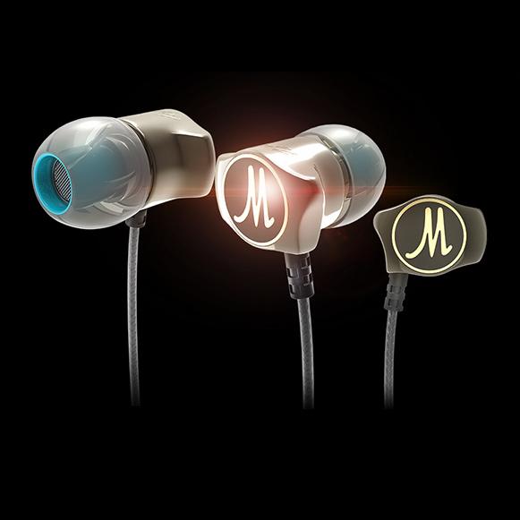 Luxusné zinková slúchadlá - kovové slúchadlá do uší qkz DM7.