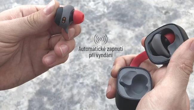 Malá, nenápadná mini športové slúchadlá do ucha bez drôtov HAVIT G1.  Dlhá výdrž, nabíjacia kolíska do vrecka.
