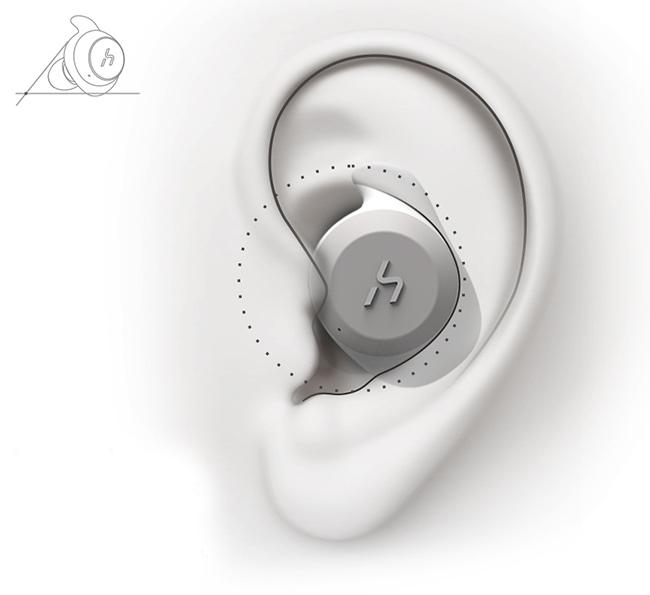 Bluetooth bezdrôtová slúchadlá do uší ergonomická, ktorá drží v ušiach HAVIT G1.