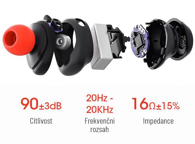 Kvalitné slúchadlá do uší bez drôtová so skvelým zvukom HAVIT G1.