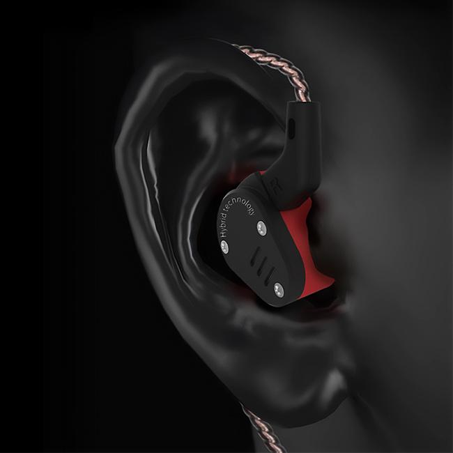 Ergonomické In Ear Monitory sluchatka do usi KZ ZSA.