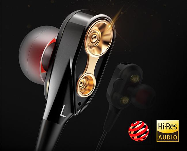 Malá pekná krásna slúchadlá do uší s luxusným dizajnom lacná qkz ck8.