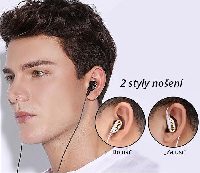 Pohodlné slúchadlá do uší sa skvelým zvukom ergonomická QKZ CK8.