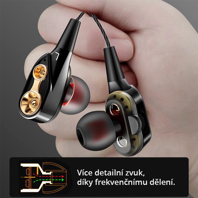 HiFi HD slúchadlá s dvoma reproduktormi slúchadlá do uší QKZ CK8.