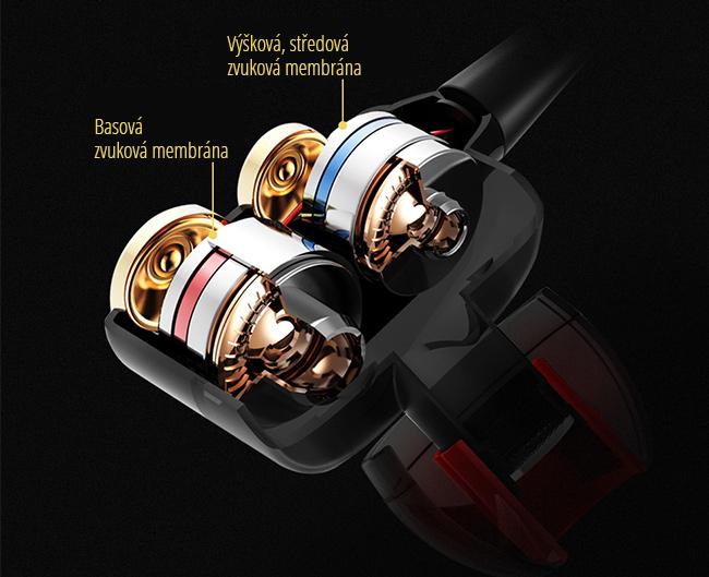 Špičková slúchadlá kvalitné štuple do uší QKZ CK8.
