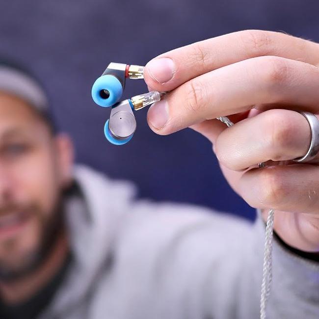 Pohodlná kovová slúchadlá špunty do uší malá mini slúchadlá tin hifi audio t2.
