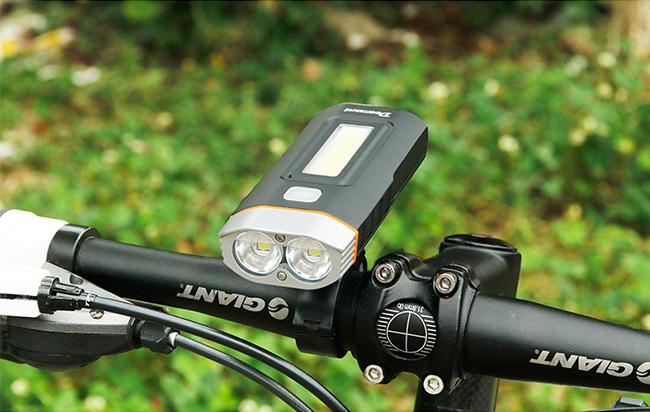 Pekné predné svetlo na bicykel.