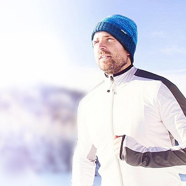 Pohodlná pletená čiapka, ktorá nehryzie akryl.  Na šport do mesta Aonijie M25.